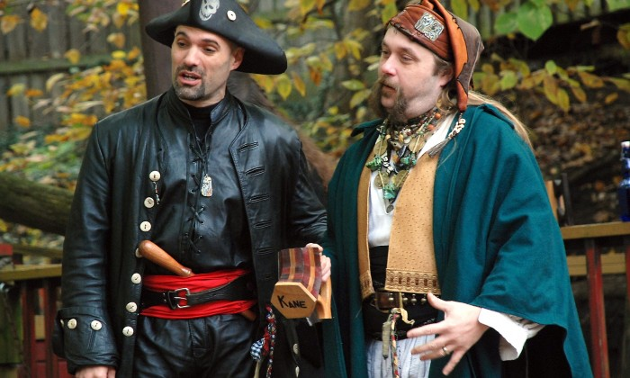 Two men in period dress for Renaissance festival
