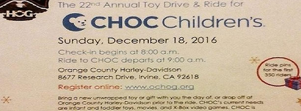 CHOC Children toy drive ad 2017