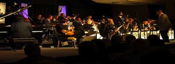 jazz orchestra on stage