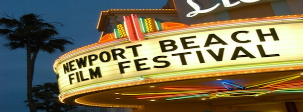 newport beach film fest sign