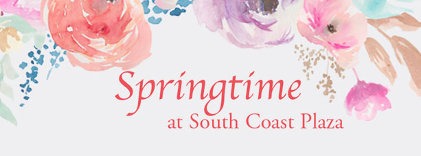 Springtime at south coast plaza banner