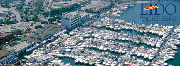 Aerial shot of yacht club