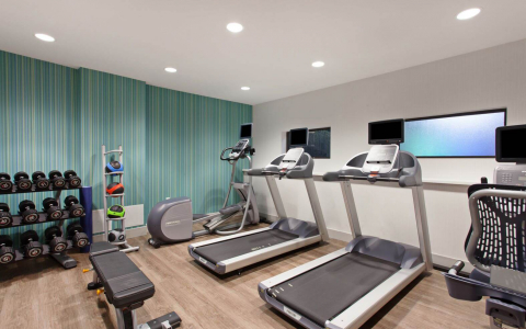 Fitness center with treadmills & other equipment