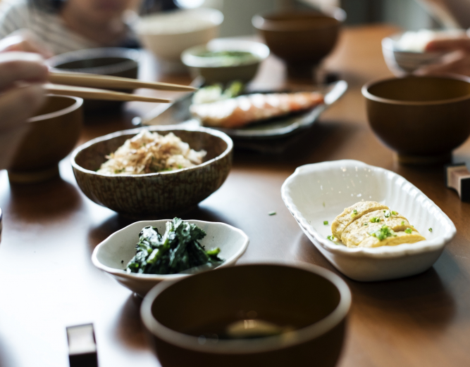 A Table Full of Authentic Japanese Dishes