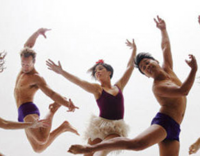 Dancers doing contemporary dance