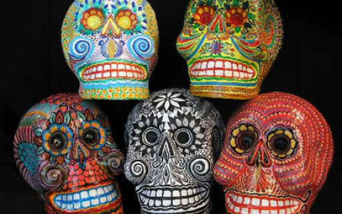 Skull Masks for Day of the Dead