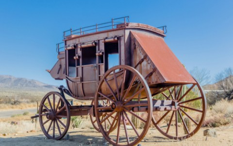 stagecoach in desert