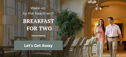 breakfast for two by the beach awaits