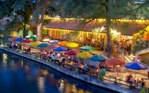 Downtown San Antonio riverwalk