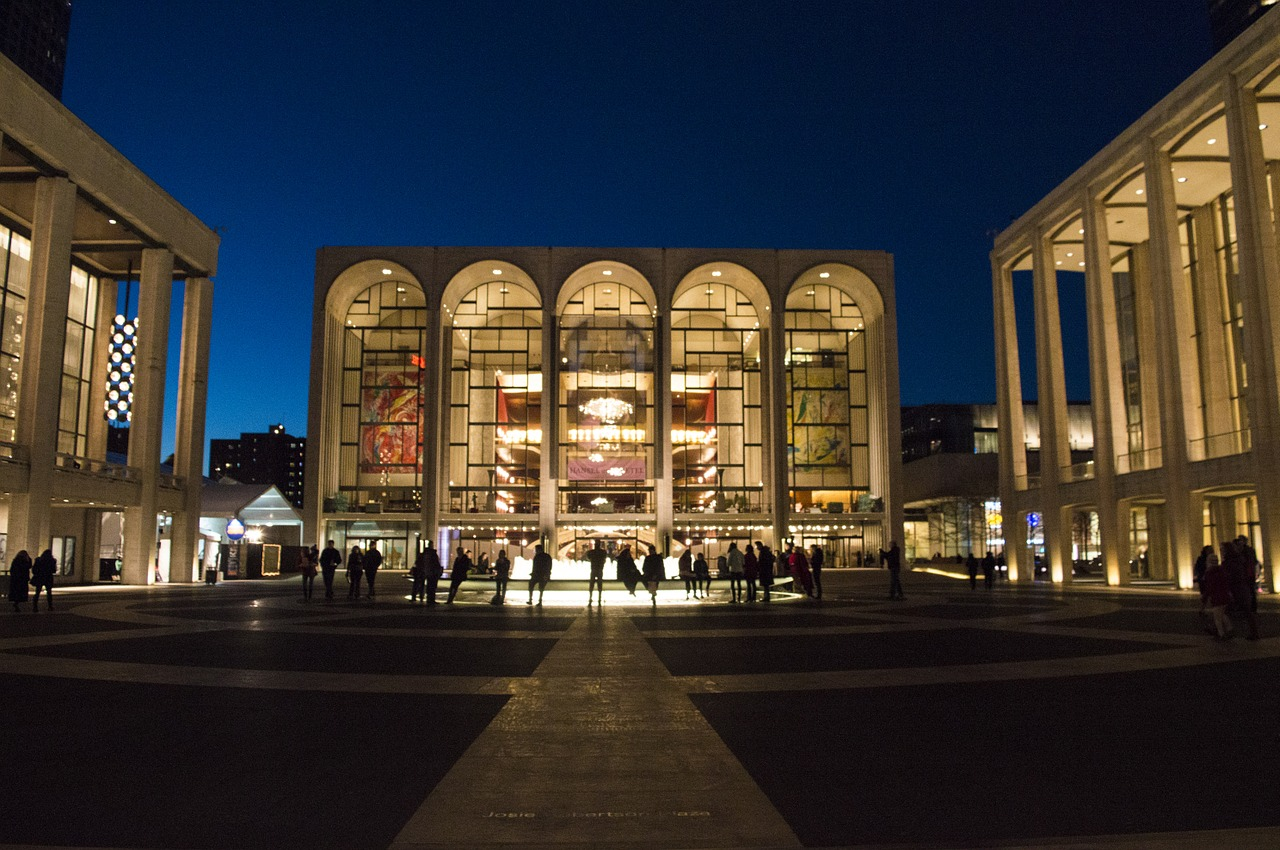 Lincoln Center in New York City at night