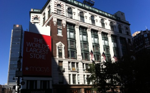 Facade of Macys Department Store in New York