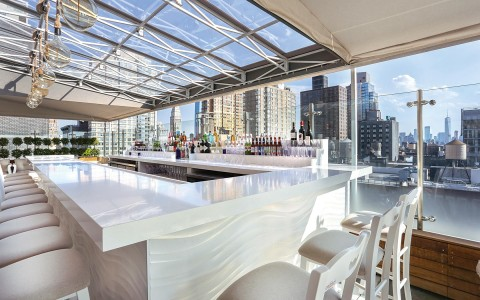 bar angle of rooftop bar