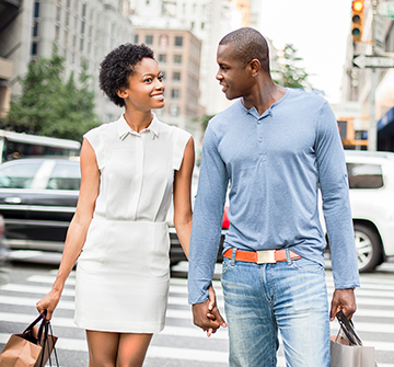 couple on the streets of new york