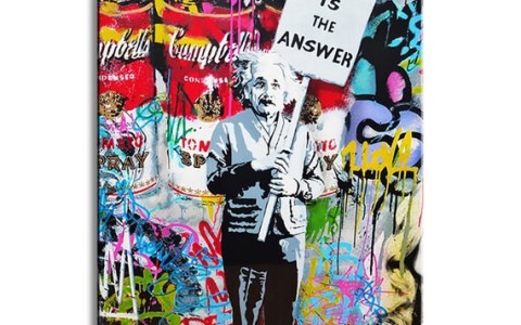 Mr Brainwash Einstein grafitti art