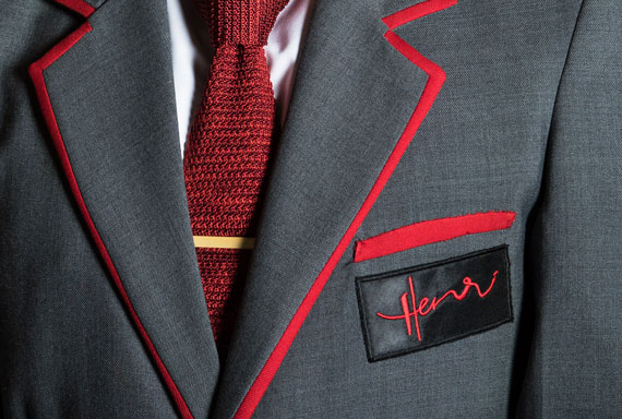close up suit with henri