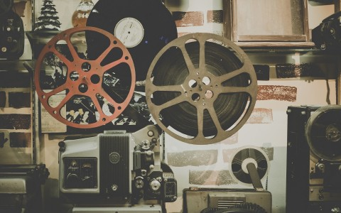 Movie projector and assorted film equipment