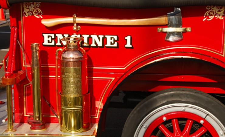 close up of fire engine