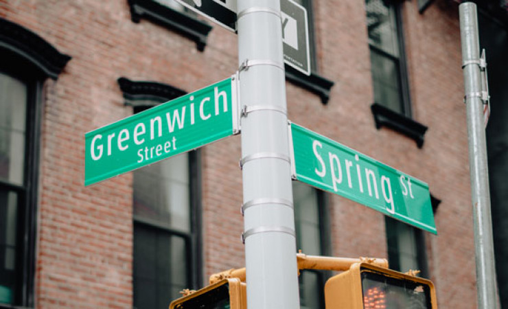 greenwhich street sign