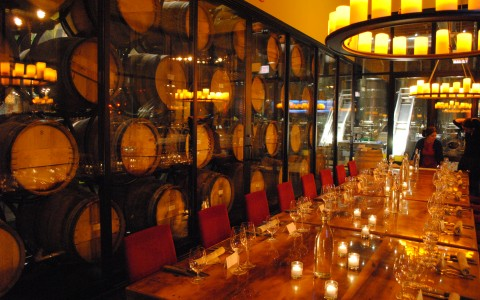 barrels of wine at the hotel hugo city winery nyc