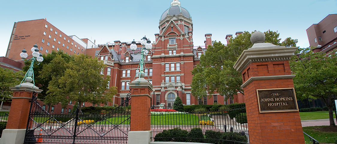 johns hopkins hospital brick exterior