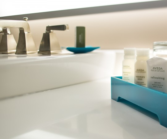 Indigo Double vanity and toiletry