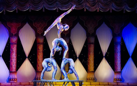 acrobats on stage