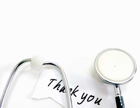 Thank You with stethoscope