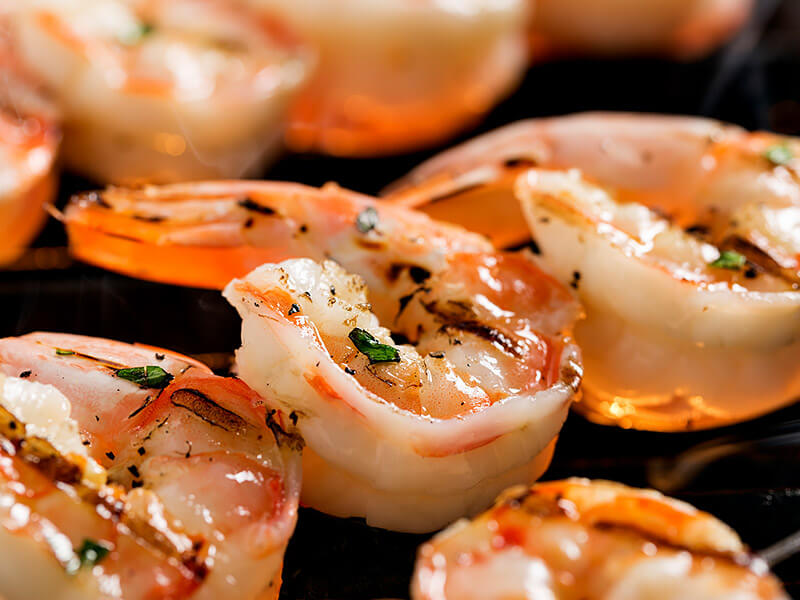 seasoned grilled shrimp