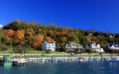 mackinac island in the fall