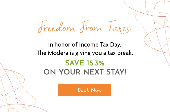 Popup with an offer in honor of Income Tax Day. Save 15.3%.