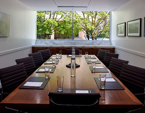 Boardroom with window