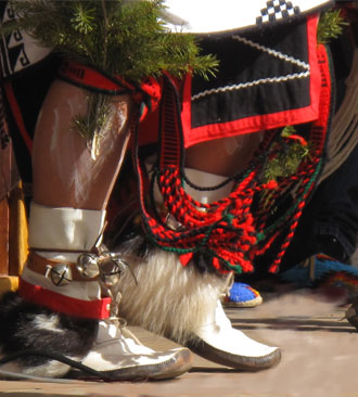 close up of native american feet