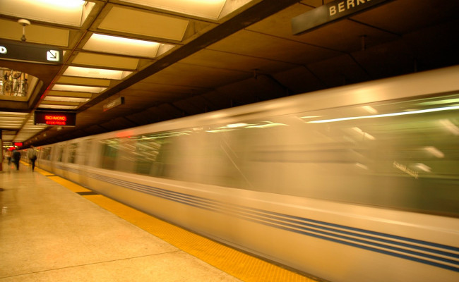 Blur of a subway train