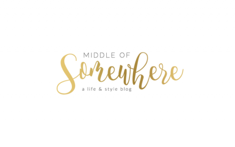 Middle of Somewhere logo- gold
