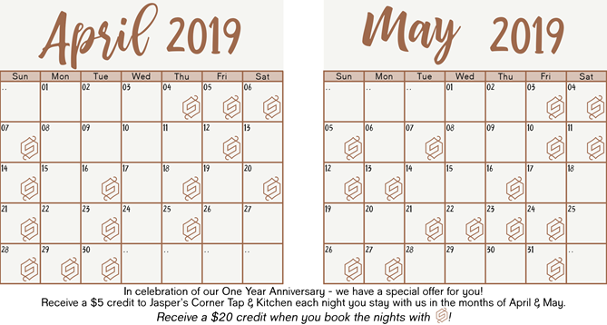 april and may credit calendar