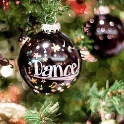 Handmade Christmas Ornament on a Tree with Dance on it