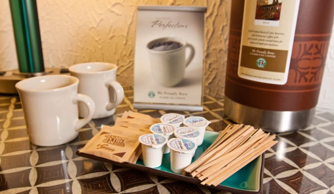 in room tea and coffee accoutrements Header