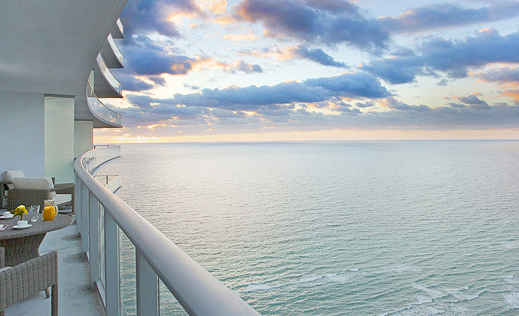 balcony over oceanfront view