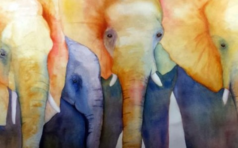 Painting of Endangered Elephants