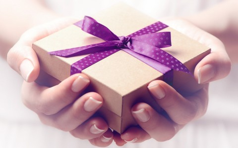person giving gift