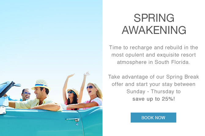 start your stay between sunday - thursday to save up to 25%