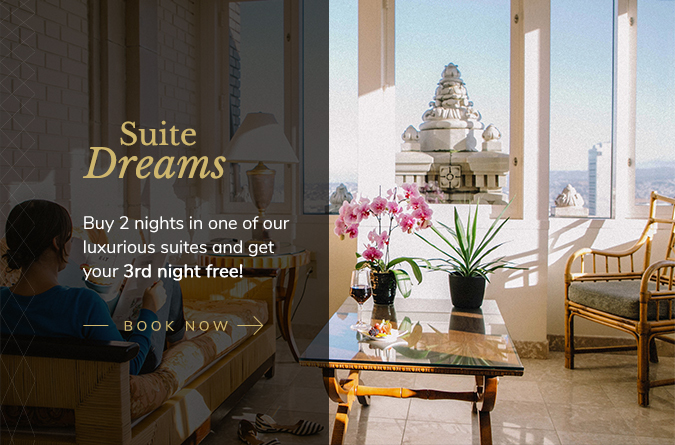 suite dreams buy 2 nights in one of our luxurious suites and get your 3rd night free! Book Now