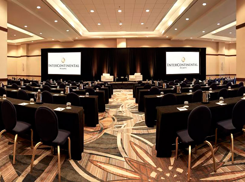 Biscayne ballroom venue ready for conference