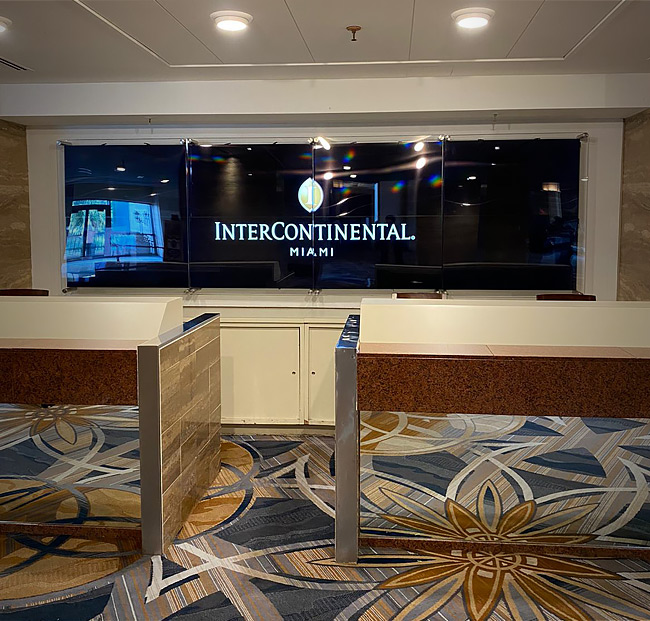 Hotel check-in desks