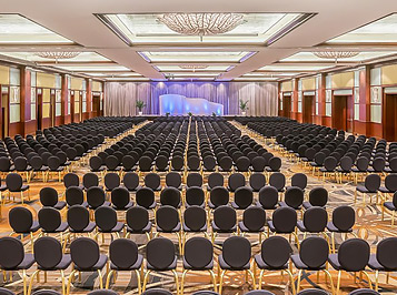 Large meeting venue prepped for conference