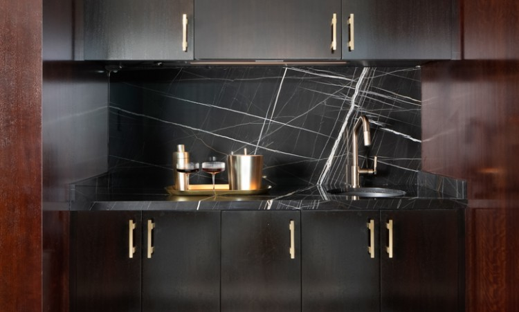 sinks and cabinets with fancy accents