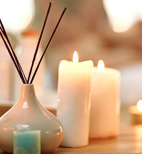 Illinois beach resort spa aromatherapy candles