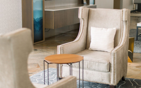 lobby chair and side table