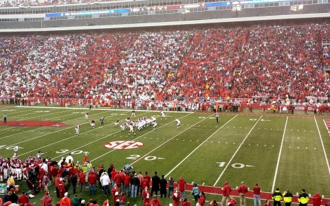 University of Arkansas stadium on game day