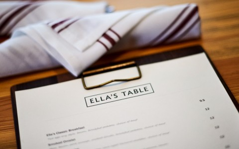 ellas table menu